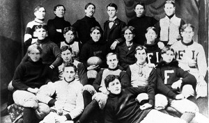 <span class='credit'>Torch Archive Photo</span><span class='description'>1896 Bulldogs: Team photo of the 1896 football team, only two years after Ferris Industrial School became the Ferris Institute.</span>