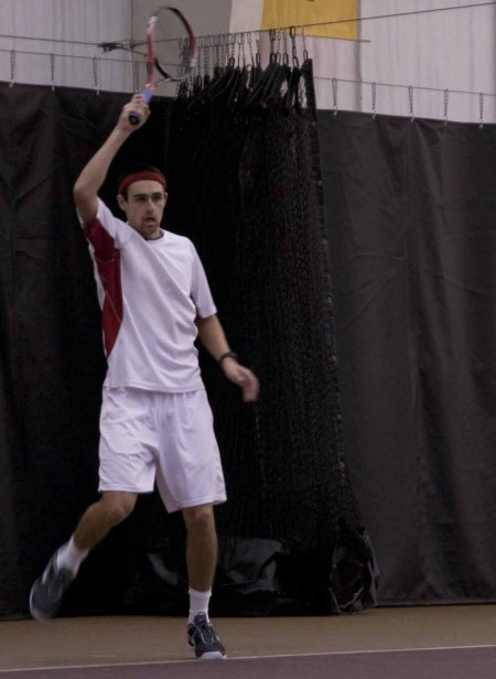 Winning Season: Steven Roberts swings during a 2010-11 match. The Bulldogs finished the 2010-11 season 14-8 overall. Torch File Photo