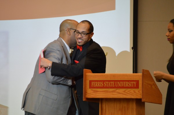 Leroy Wright (Left) won the Thurgood Marshall Male Faculty and Staff Diversity Award during the Image Awards that were hosted in the new University Center.