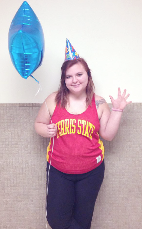 Graphic media management sophomore Karen Reardon was born on Feb. 29 and therefore has only had four birthdays.