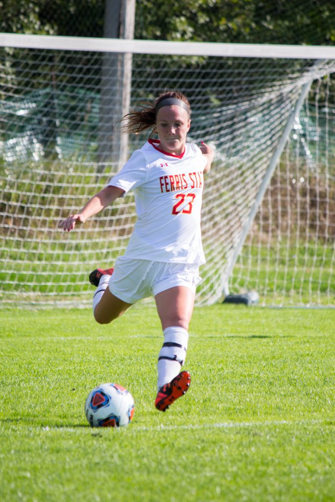 As a returning contributor, Ferris junior defender Audrey Romine will look to help lead the Bulldogs back to the GLIAC Tournament this season.